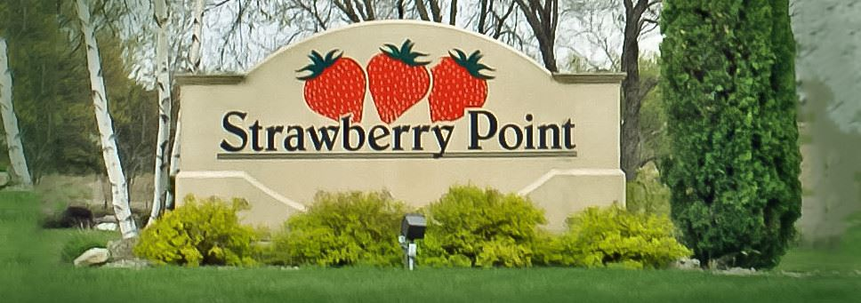 Strawberry Point sign